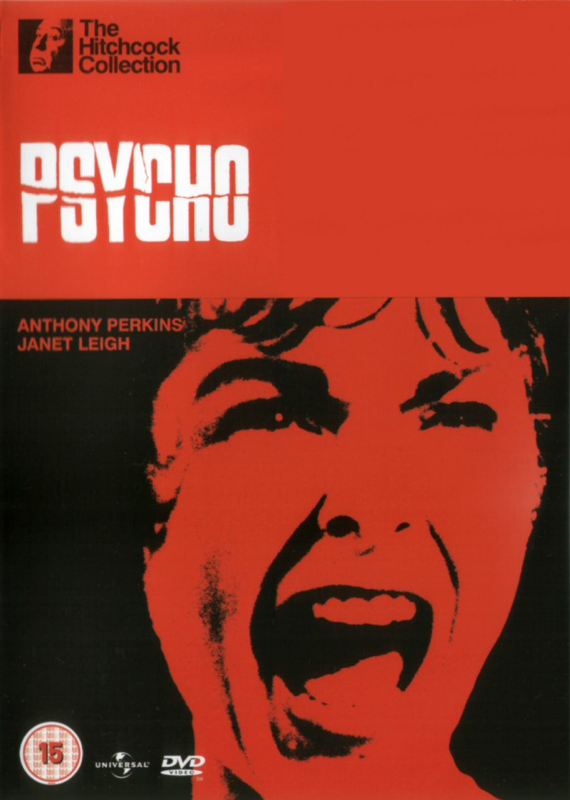 dvd e vhs psyco alfred hitchcock