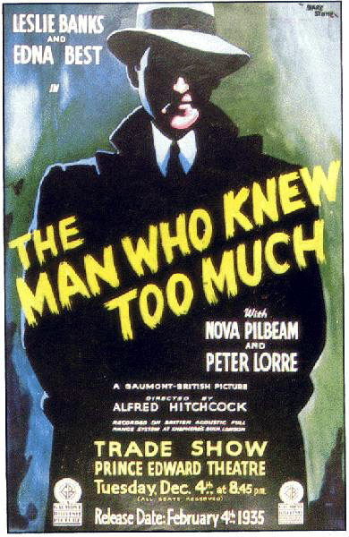 Poster - Locandine e Fotobuste - The Man Who Knew Too Much
